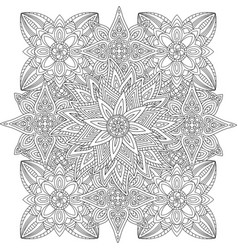 beautiful linear floral pattern vector image