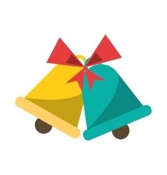 Bell of Christmas season design vector