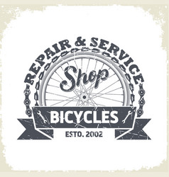 bicycles shop monochrome logo vector image