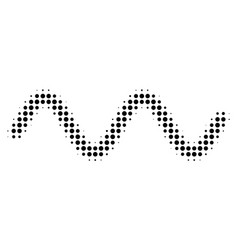 black dot sinusoid wave icon vector image
