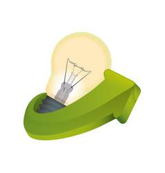 bulb electric energy vector image