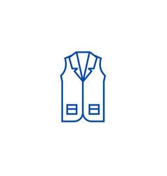 business vest line icon concept business vest vector image