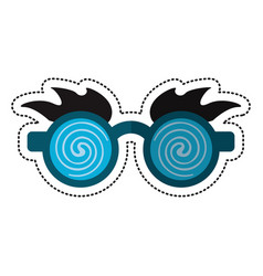 Cartoon april fools day crazy glasses vector