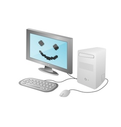 cartoon home computer vector image