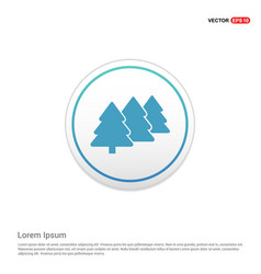 christmas tree icon - white circle button vector image