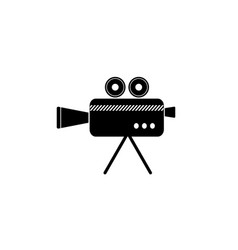 cinema camera icon black vector image