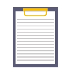 Clipboard paper checklist icon vector