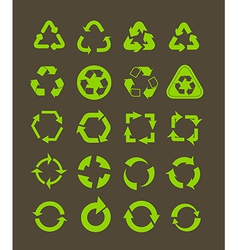 Collection of different recycle icons vector image
