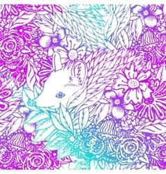 Cute little hedgehog seamless pattern vector
