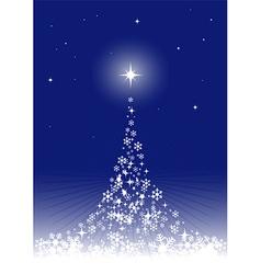 Dreamful christmas tree vector