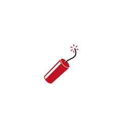 dynamite grenade tnt burning bomb icon vector image