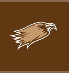 eagle head sport mascot design template vector image