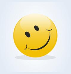emoticon showing a true sense happiness smile vector image
