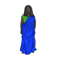 fat african woman with green and blue local vector image