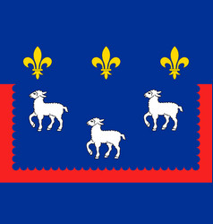 Flag of bourges in cher of centre-val de loire vector