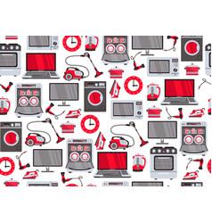 Flat home appliance seamless pattern vector