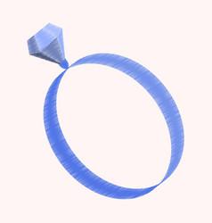 flat shading style icon engagement ring vector image