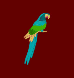 Flat shading style icon parrot vector