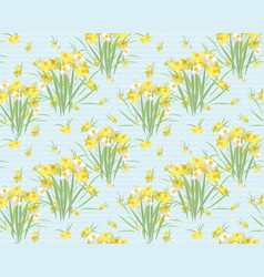 floral narcissus retro vintage background vector image