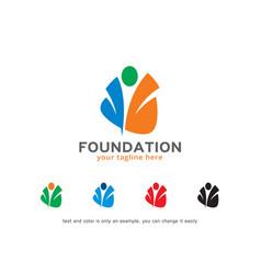 Foundation logo template design vector