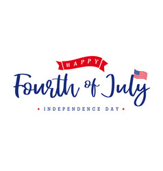 fourth july independence day lettering banner vector image