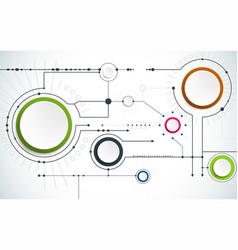 futuristic technological background vector image
