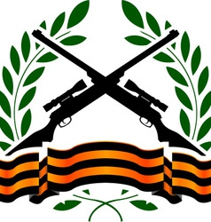 georgievsy ribbon and sniper rifles vector image