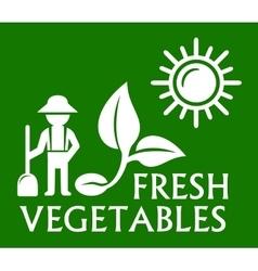 green plant symbol vector image
