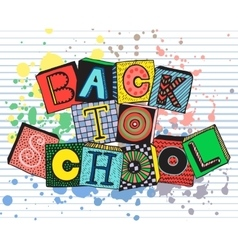 Hand drawn phrase back to school in doodle fansy vector