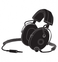 headphones outline vector image