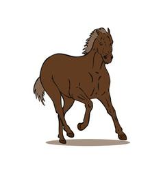 Horse Galloping Retro vector