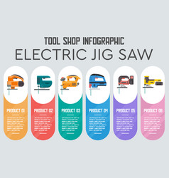 Industrial tools product flat infographics vector