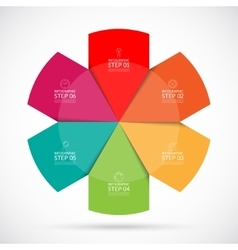 Infographic circular template vector image