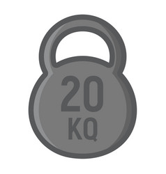 Kettlebell filled outline icon fitness and sport vector