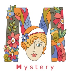 Letter m mystery vector