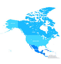 Map north america vector