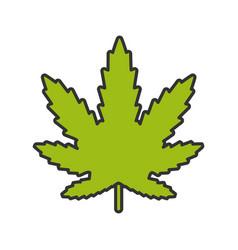 Marijuana leaf color icon vector