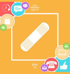 medical plaster adhesive bandage ico vector image
