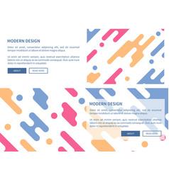 modern design website page vector image vector image