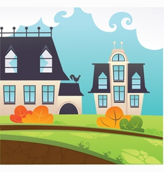 my little village vector image