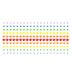 Paint bucket shape halftone spectrum grid vector