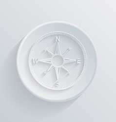 paper circle flat icon with a shadow compass vector image