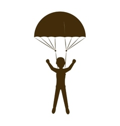 Parachutist man cartoon vector