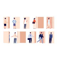 people at door open doors business man opened vector image