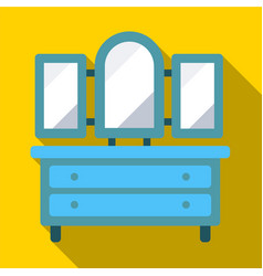 Pier glass flat icon vector