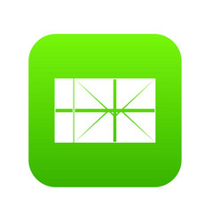 postal parcel icon digital green vector image