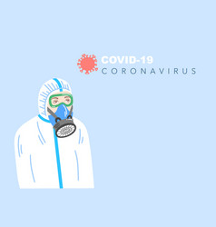poster in flat style about coronavirus covid-19 vector image
