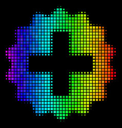 Rainbow dotted create icon vector
