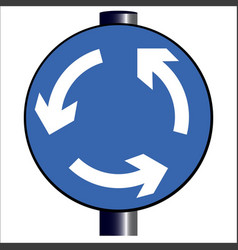 Roundabout traffic sign vector