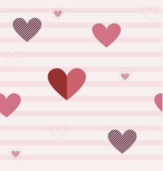 seamless pattern with different hearts vector image